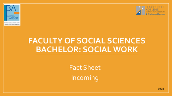 Social Work Informations about the Bachelor
